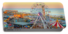Ocean City New Jersey Boardwalk And Music Pier Portable Battery Charger