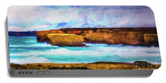 Portable Battery Charger featuring the photograph Ocean Cliffs by Perry Webster