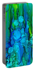 Portable Battery Charger featuring the painting Ocean Depths by Nikki Marie Smith