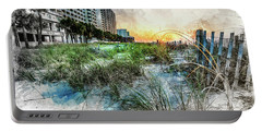 Ocean Drive Easter Sunrise Portable Battery Charger