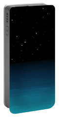 Ocean - Elements - Starry Night Portable Battery Charger by Val Arie