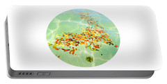 Portable Battery Charger featuring the photograph Ocean Flowers Oval by Linda Hollis