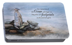 Portable Battery Charger featuring the photograph Ocean Memories by Robin-Lee Vieira