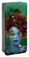 Portable Battery Charger featuring the digital art Ocean by Nola Lee Kelsey