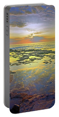 Portable Battery Charger featuring the photograph Ocean Puddles At Sunset On Molokai by Tara Turner