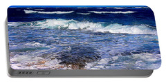 Ocean Scene In Abstract 14 Portable Battery Charger