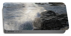 Ocean Splash Portable Battery Charger by Carol Crisafi