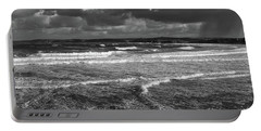 Ocean Storms Portable Battery Charger by Nicholas Burningham