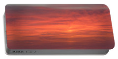 Ocean Sunrise Portable Battery Charger by Kathy Long