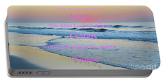 Ocean Sunrise Serenity Prayer Portable Battery Charger