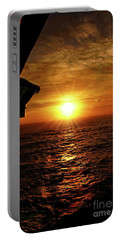Ocean Sunset Portable Battery Charger by Sue Melvin