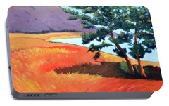 Portable Battery Charger featuring the painting Ocean View by Gary Coleman