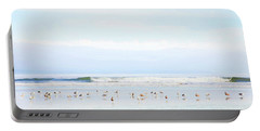 Portable Battery Charger featuring the photograph Ocean View With Seagulls by Theresa Tahara