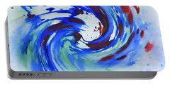 Ocean Wave Watercolor Portable Battery Charger