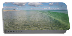 Ocean Waves And Clouds Rollin' By Portable Battery Charger