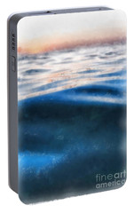 Portable Battery Charger featuring the painting Ocean Waves by Edward Fielding