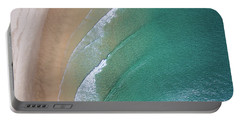 Ocean Waves Upon The Beach Portable Battery Charger