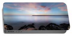 Oceanside Harbor Sunset Portable Battery Charger