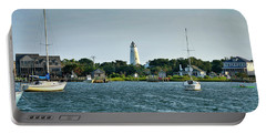Ocracoke Island Lighthouse From Silver Lake Portable Battery Charger