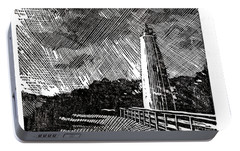Portable Battery Charger featuring the painting Ocracoke Island Lighthouse II by Ryan Fox