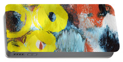 October- Abstract Art By Linda Woods Portable Battery Charger