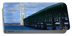 October At The Straits Of Mackinac Portable Battery Charger