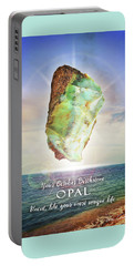 October Birthstone Opal Portable Battery Charger