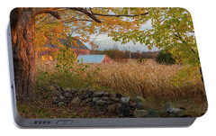 Portable Battery Charger featuring the photograph October Morning 2016 by Bill Wakeley