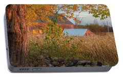 Portable Battery Charger featuring the photograph October Morning 2016 Square by Bill Wakeley