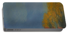 Portable Battery Charger featuring the painting October On The River by Stanza Widen