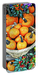 Portable Battery Charger featuring the photograph October Pumpkins by Joan Reese