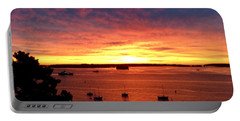 October Sunrise On Casco Bay 2016 Portable Battery Charger by Patricia E Sundik