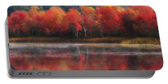 October Trees - Autumn  Portable Battery Charger by MTBobbins Photography