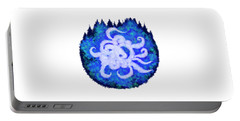 Portable Battery Charger featuring the digital art Octopus And Trees by Adria Trail
