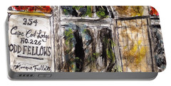 Portable Battery Charger featuring the painting Odd Fellows, Cape Cod by Monique Faella