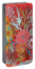 Portable Battery Charger featuring the painting Ode To Spring by Robin Maria Pedrero
