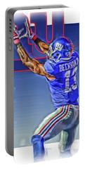 Odell Beckham Jr New York Giants Oil Art 3 Portable Battery Charger