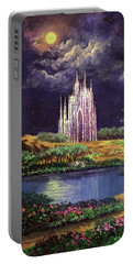 Of Glass Castles And Moonlight Portable Battery Charger
