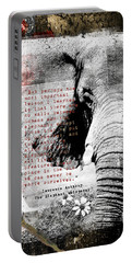 Portable Battery Charger featuring the digital art Of Elephants And Men by Nola Lee Kelsey
