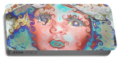 Portable Battery Charger featuring the digital art Of Many Colors by Holly Ethan