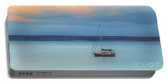 Portable Battery Charger featuring the photograph Off Sailing by Stephen Mitchell