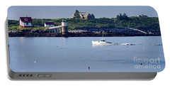 Portable Battery Charger featuring the photograph Off To Work, East Boothbay, Maine #50011 by John Bald