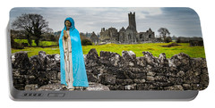 Official Greeter At Ireland's Quin Abbey National Monument Portable Battery Charger