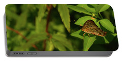 Offset Image Of A Brown Butterfly Portable Battery Charger