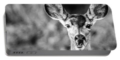 Oh, Deer, Black And White Portable Battery Charger