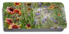 Oh Hi Orange Red Purple Flowers Portable Battery Charger