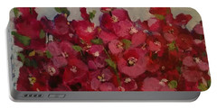 Oh My Hollyhocks Portable Battery Charger