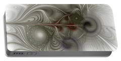Portable Battery Charger featuring the digital art Oh That I Had Wings - Fractal Art by NirvanaBlues