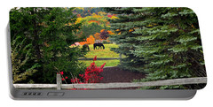 Portable Battery Charger featuring the photograph Ohio Farm In Autumn by Joan  Minchak
