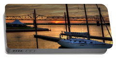 Portable Battery Charger featuring the photograph Ohio River Sailing by Deborah Klubertanz